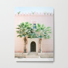 "Travel photography print ""Magical Marrakech"" photo art made in Morocco. Pastel colored. Metal Print"