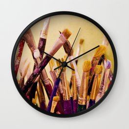 Paintbrushes Wall Clock