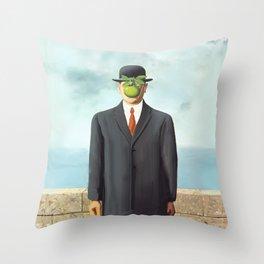The Apple man Throw Pillow