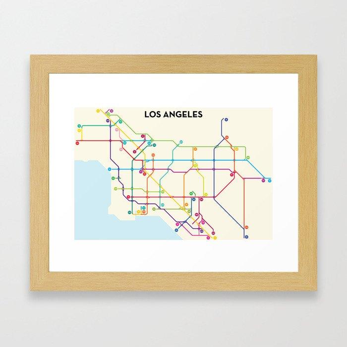 Los Angeles Freeway System Framed Art Print
