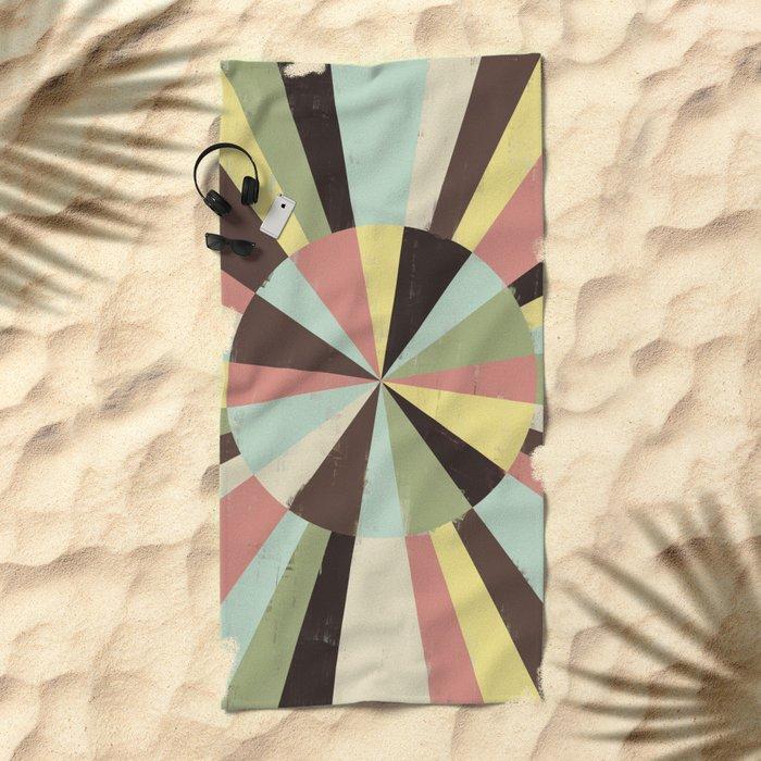 Color Wheel Beach Towel