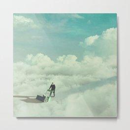 Cloud Mower Metal Print