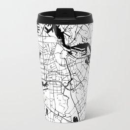Amsterdam White on Black Street Map Travel Mug