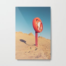 Beach Guardian Metal Print