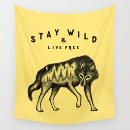 STAY WILD & LIVE FREE Wall Tapestry