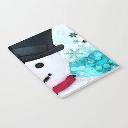 Snowman Christmas Art - Frosty - Holiday Artwork by Sharon Cummings Notebook