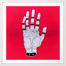 THE HAND OF ANOTHER DESTYNY Art Print