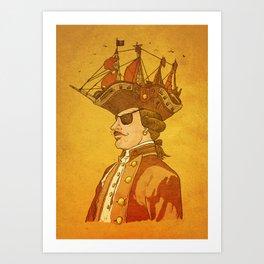 The Pirate's Head Art Print