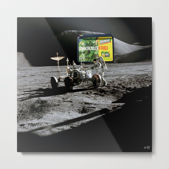 RoundUp Space Metal Print