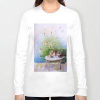 breakfast Long Sleeve T-shirts featuring Breakfast by AstridJN
