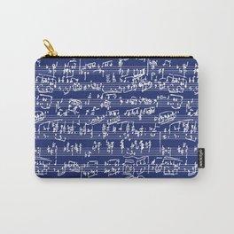 Hand Written Sheet Music // Midnight Blue Carry-All Pouch