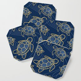 Japanese Pond Turtle / Dark Blue Coaster