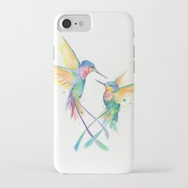 Hopeful Hummingbirds iPhone Case