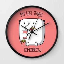 MY DIET STARS TOMORROW Wall Clock