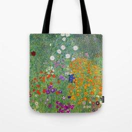 Gustav Klimt Flower Garden Floral Art Nouveau Tote Bag