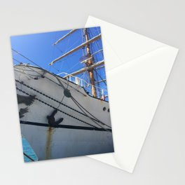 Old Sailing Ship In Port Stationery Cards
