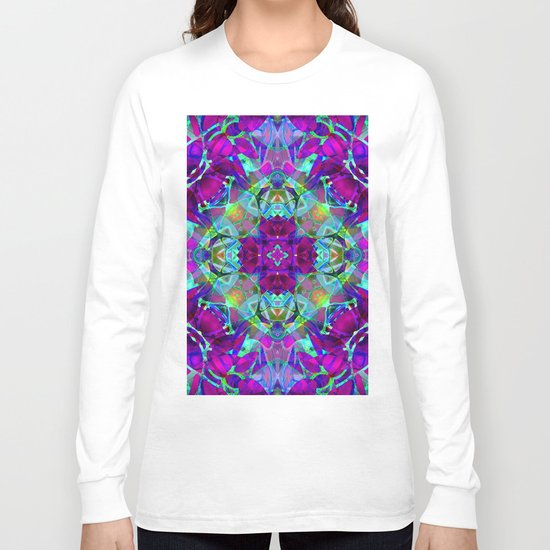 kaleidoscope Crystal Abstract G16 Long Sleeve T-shirt