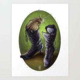 Victorian Boots Art Print