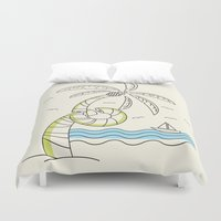 palm tree Duvet Covers featuring Palm Tree by Tuylek