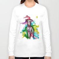the hound Long Sleeve T-shirts featuring Hound by AlysIndigo