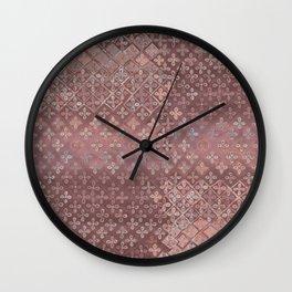 Dusty pink patina Wall Clock