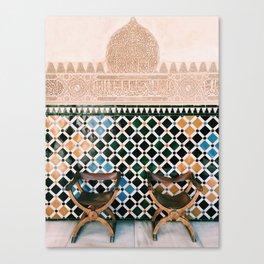 Alhambra Seats Canvas Print