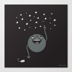 Planet Seeing Stars Canvas Print