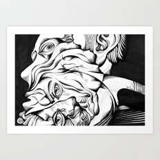 my two persons Art Print