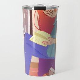 Reading Girl In Room Travel Mug