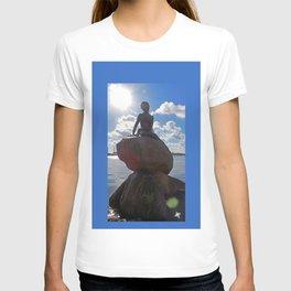Little Mermaid Backlight Copenhagen Denmark Photograph T-shirt