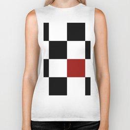 Checkerboard Biker Tank