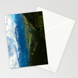Gore Range with ranches below Stationery Cards