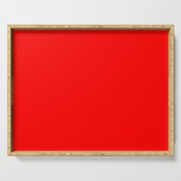 ff0000 Bright Red Serving Tray