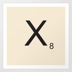 Scrabble X Art Print
