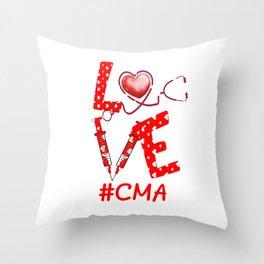 LOVE Cma apparel nurse gifts for women Throw Pillow