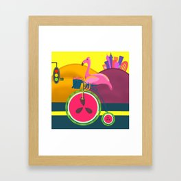 Flamingos Day Out Framed Art Print