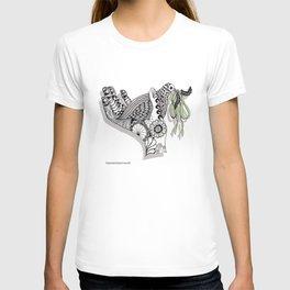 Zentangle Illustration - Peace Dove  T-shirt