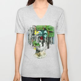 It´s all in your mind · Statue 3x Unisex V-Neck