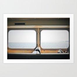 ferry. Art Print