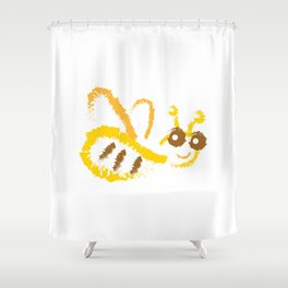 Funny bee Shower Curtain