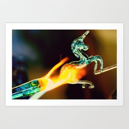 Burning Glass Art Print