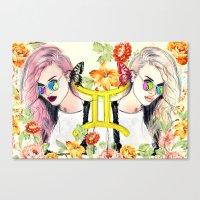 gemini Canvas Prints featuring Gemini by Sara Eshak