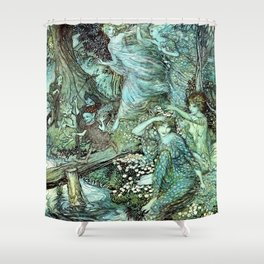 Magical Fairy folk Shower Curtain