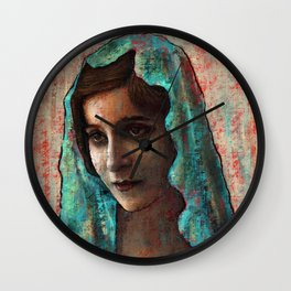 Woman With Mantilla Wall Clock