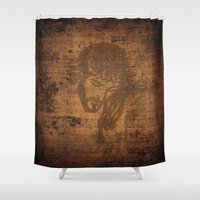 jesus Shower Curtains featuring  Jesus  by OnlineGifts