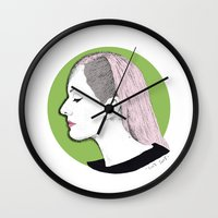 ellie goulding Wall Clocks featuring Ellie by Iiris Ella