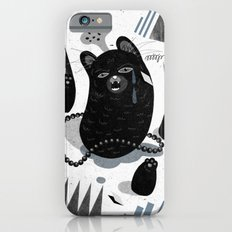 Cat in snow iPhone 6 Slim Case