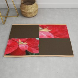 Mottled Red Poinsettia 2 Blank Q3F0 Rug