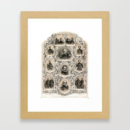Our Generals -- Union Civil War Framed Art Print