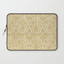 Gold Damask Pattern Laptop Sleeve